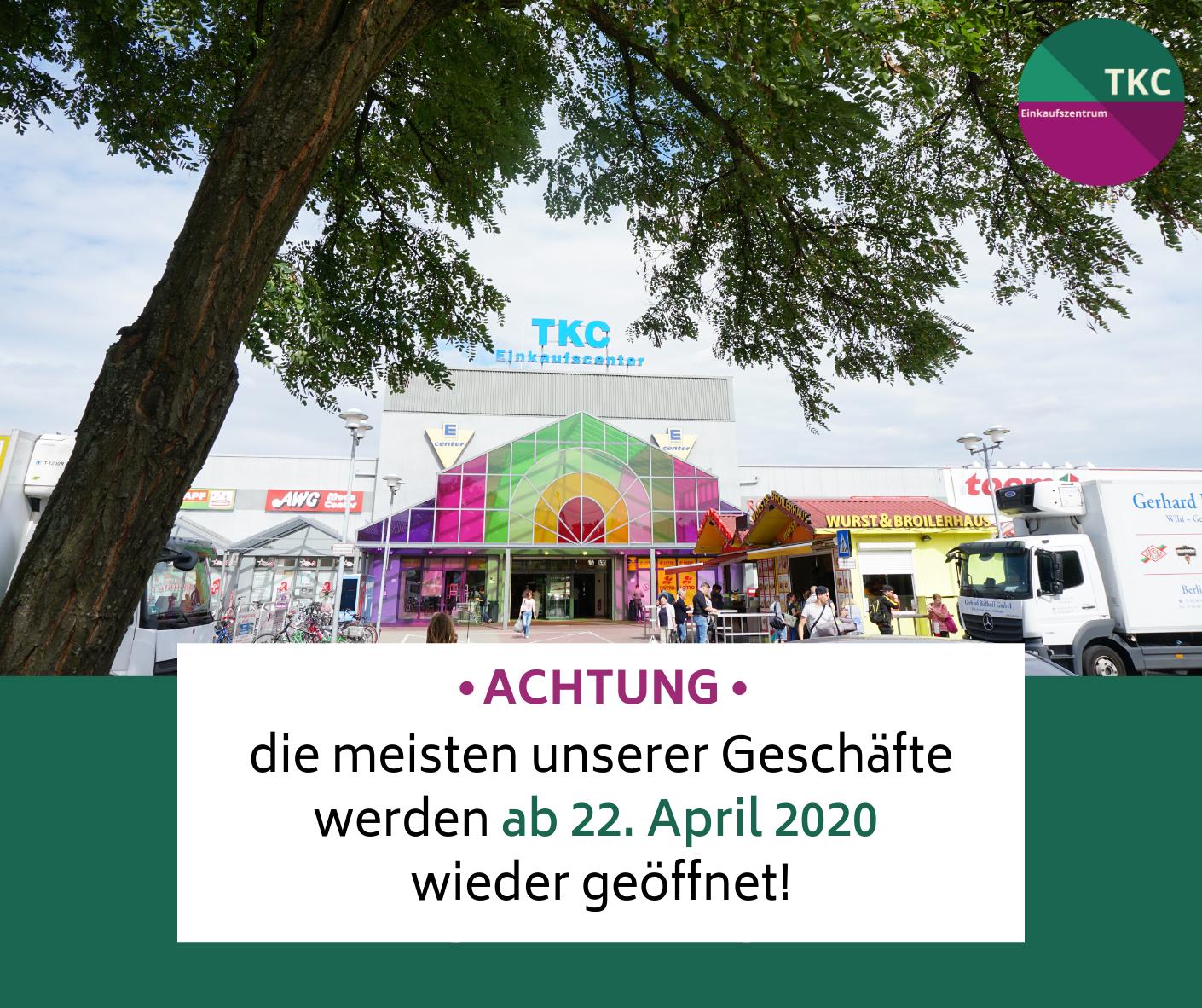 TKC Cottbus: Öffnung der Geschäfte in Brandenburg ab 22. April 2020